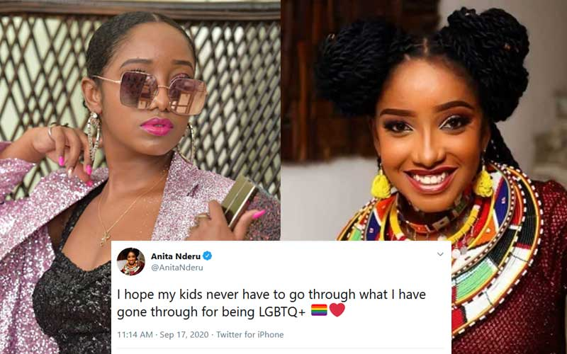 Twitter debate after Anita Nderu's LGBTQ post