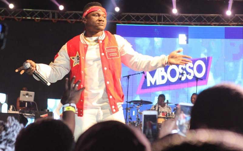Tanzania's bongo singer Mbosso at Wasafi Festival