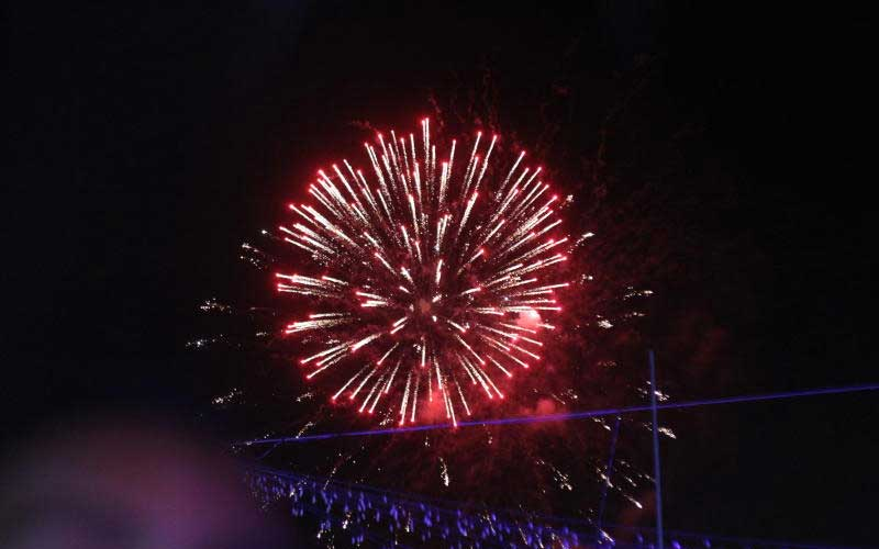 Fireworks during Wasafi Festival
