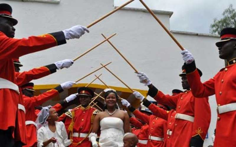 Why military weddings have the arch of swords ceremony