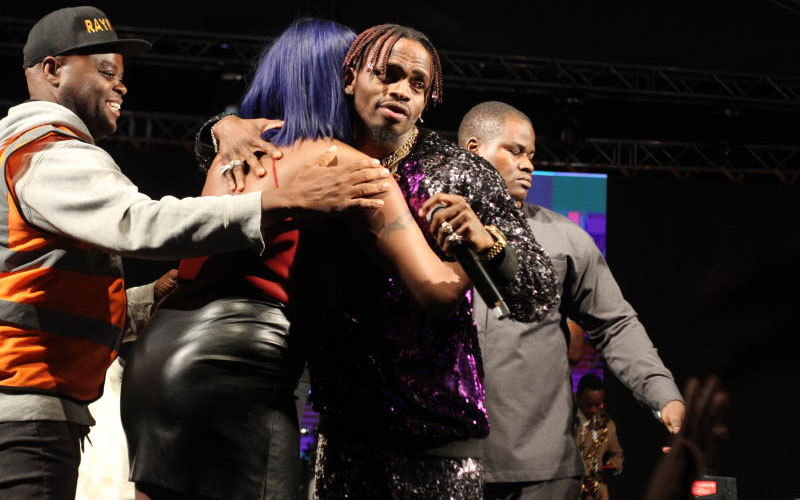 Tanzania's bongo star Diamond Platinumz during Was