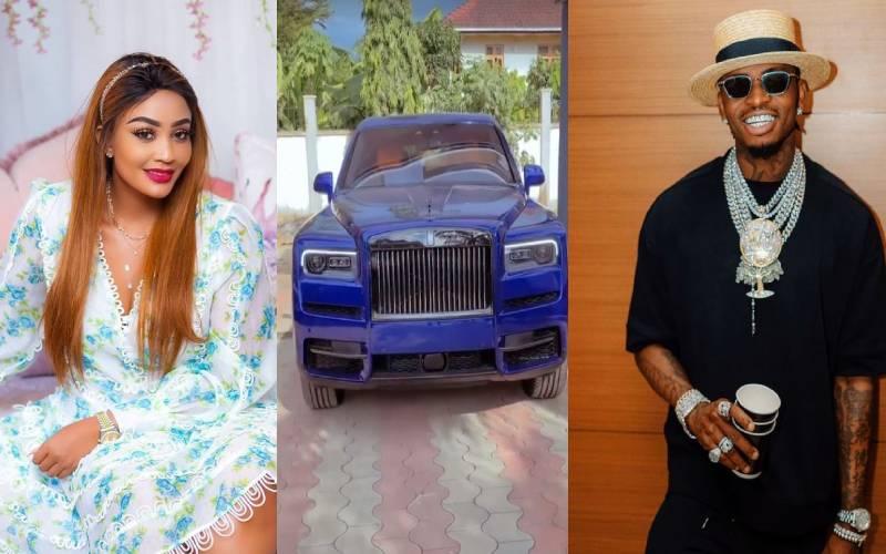 Zari reacts to Diamond Platnumz brand new sky blue Rolls Royce Cullinan 2021