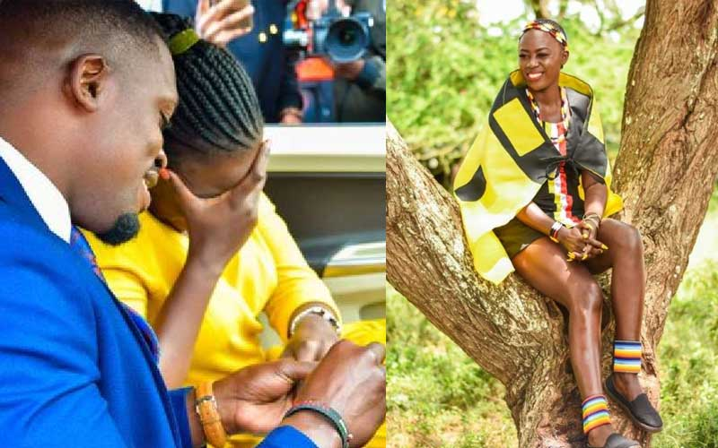 Akothee's reaction to sister's surprise engagement