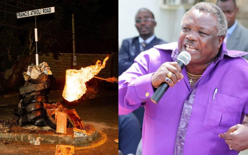 Atwoli speaks after road sign burned down in Kileleshwa