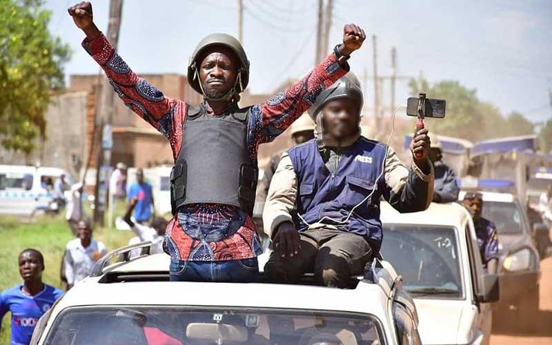 Bobi Wine says military raided his home