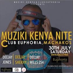 Celebrate Kenyan Muziki at Club Euphoria this Saturday