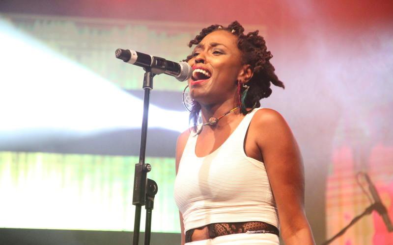 Okinda Andal at Tarrus Riley's Concert, KICC