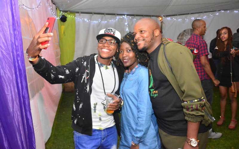 Dj Wesley, Lilian Wanja and Jalango at the Katika