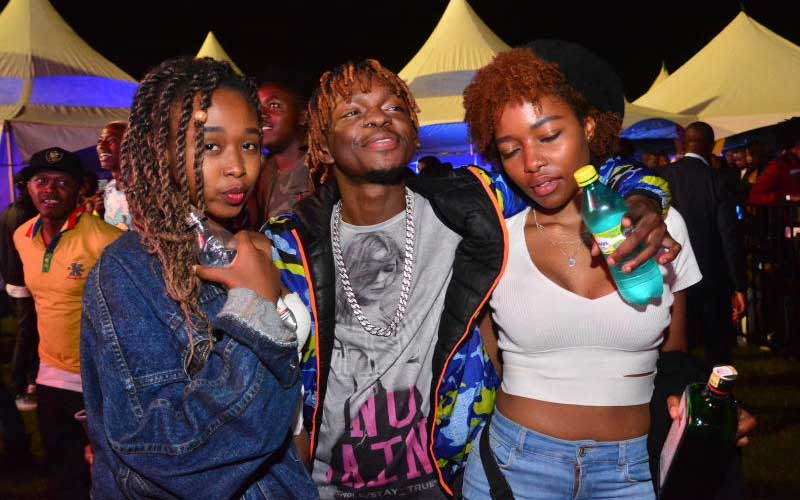 Risper , Shaq the younging and Cathy Maina at the