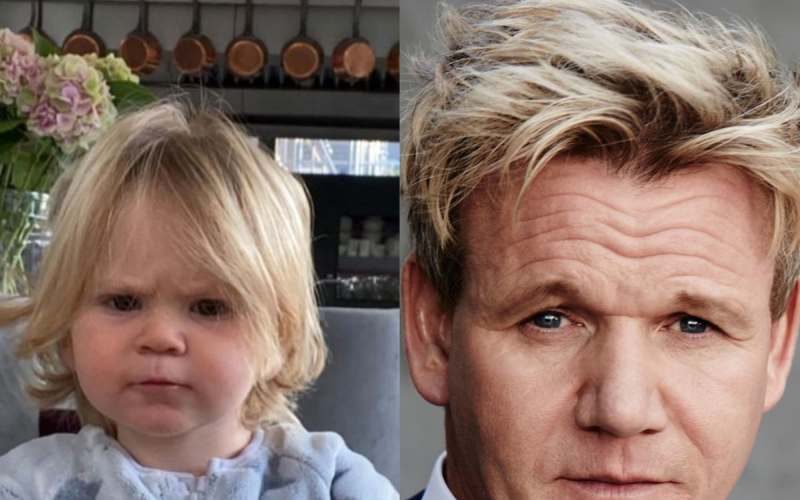 Gordon Ramsay's adorable son has inherited dad's famous scowl