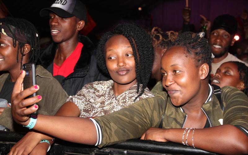 Fans at Tarrus Riley's Concert, KICC