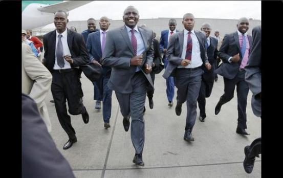 William Ruto runs