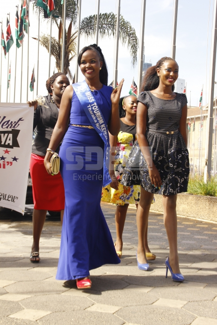Tharaka Nithi contestant walks flawlessly into the venue
