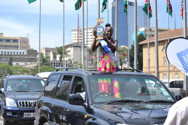 Kisii beauty arrived in style in a Prado