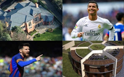 It even has a chapel! Top seven footballers' mansions