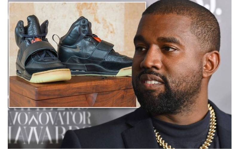 Kanye's Yeezy sneakers snag world record Sh194million in private sale