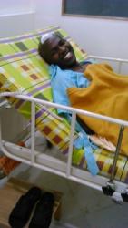 Emmanuel Jadudi recovering after undergoing surgery in India