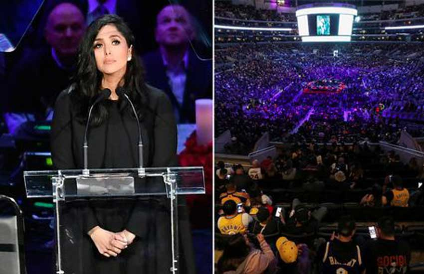 Kobe Bryant's wife Vanessa sobs in first appearance since crash