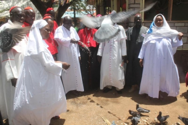 Legio Maria chuch members allege government plot to destroy god's grave