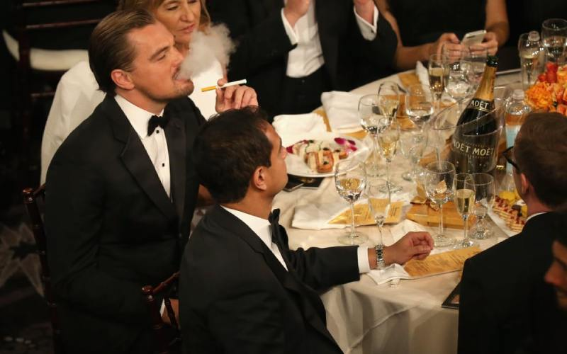 Leonardo DiCaprio went to extreme lengths to ensure his mum didn't find out he smokes