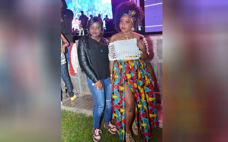 Dee Ibra and Mwanaidi Shishi at the Katika Festiva