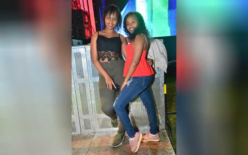 Maureen Wanjiru and Ida Mawia at the Katika Festiv
