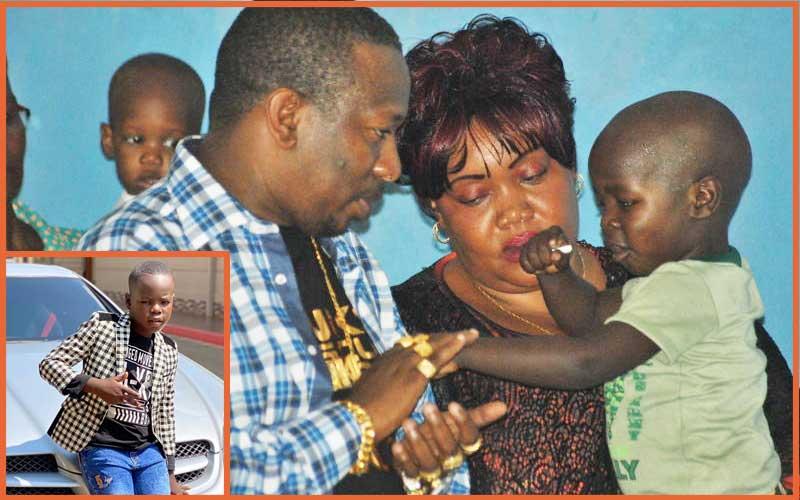 Mike Sonko celebrates son Satrine Osinya as he turns 8