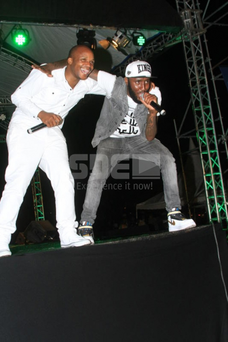 Shaffie Weru joins Jalang'o on stage