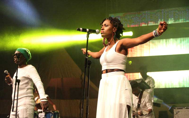 Gravitte band at Tarrus Riley's Concert, KICC