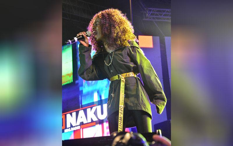 Song bird Suzziah performing at the Katika Festiva