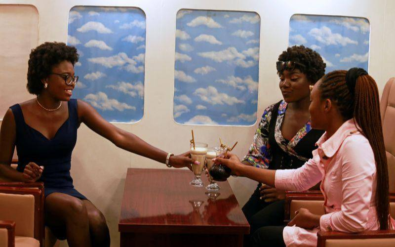 Nigerian restaurant gives customers illusion of dining in an aeroplane