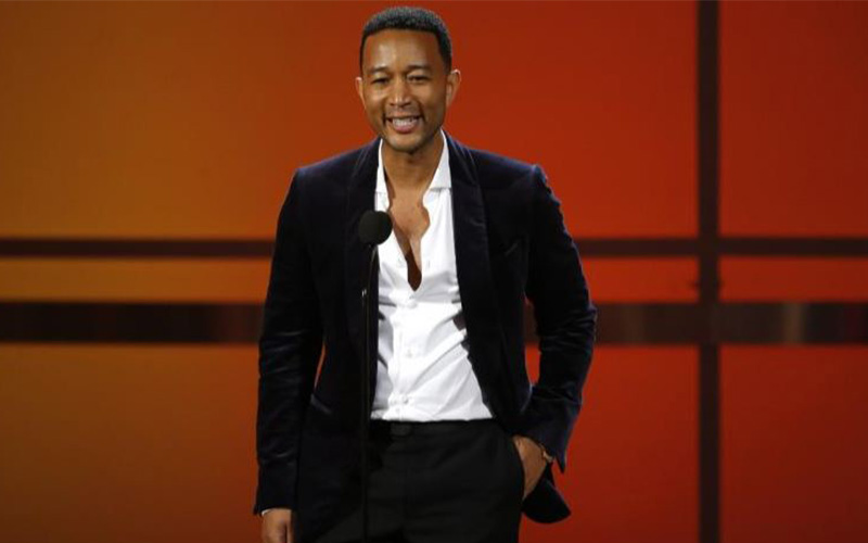 John Legend speaks on stage Photo: Reuters