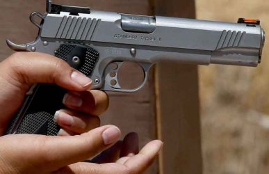 Panic rocks hotel after loaded pistol is found in the toilet