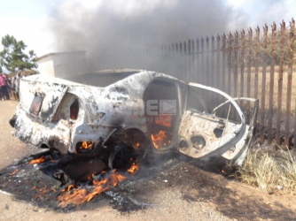 Pastor's new car goes up in flames after teen car-wash worker crashes it in Kisumu