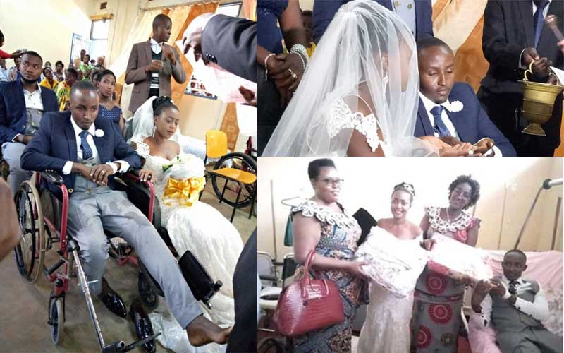 PHOTOS: Couple weds in hospital after groom's accident days to union