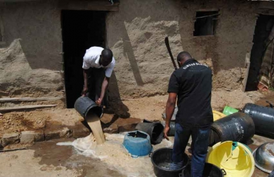 Shock as used condoms, sanitary pads and panties are found inside 3,000 litres of chang'aa