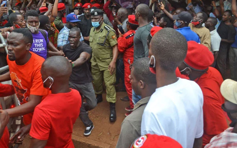 Police raid police station over Bobi Wine interview