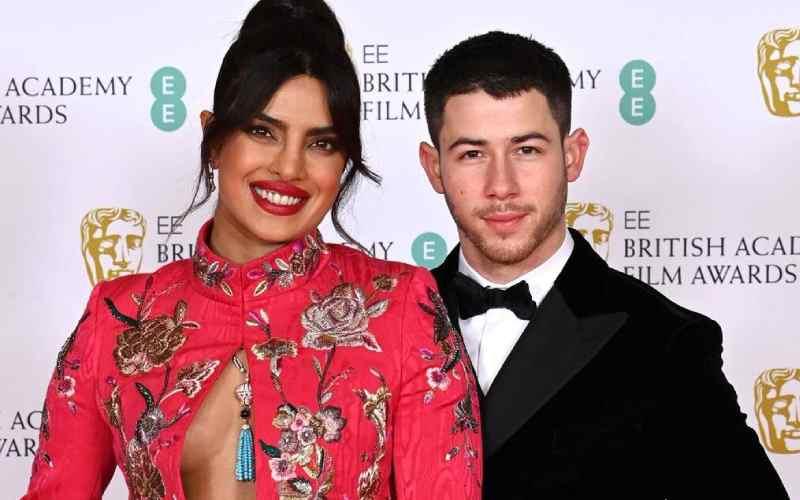 Priyanka stuns at The Bafta Awards in London