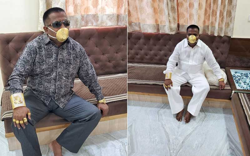 Pure gold coronavirus face mask worth Sh400,000 custom-made for businessman