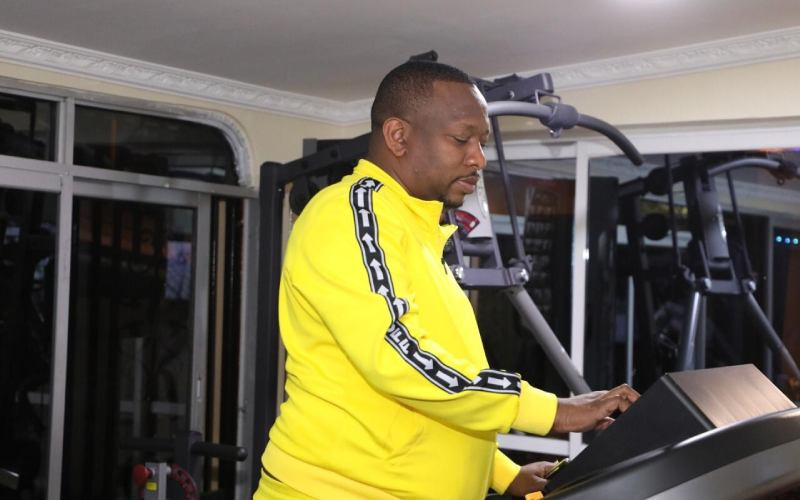 Sonko hits the gym after 'public demand', promises to have a six pack by December