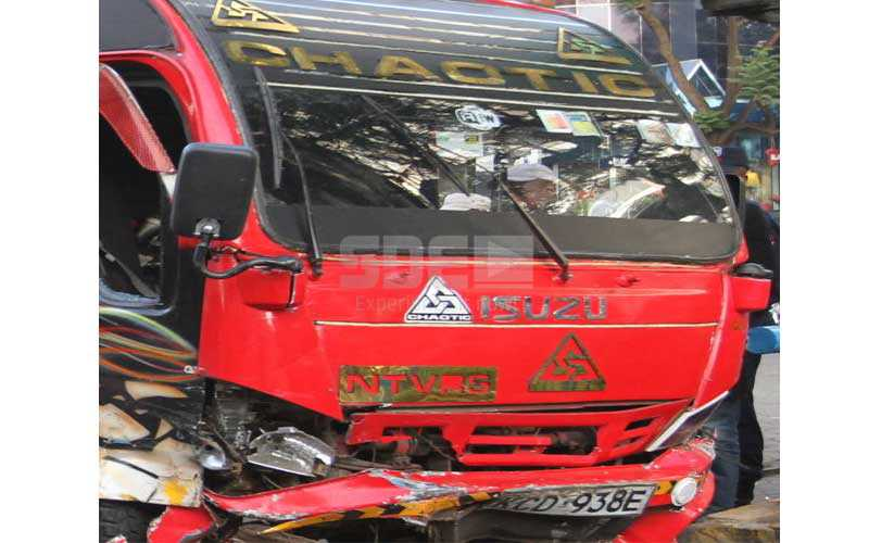 Matatu christened 'Chaotic' gets involved in a road accident