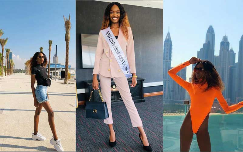 From Dubai, off to Atlanta: Photos of Miss Universe Stacy Michuki globetrotting