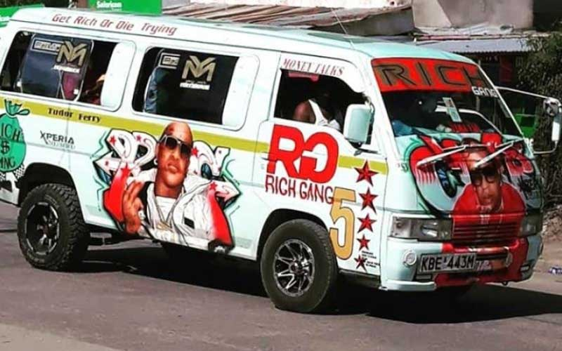 Hottest matatu: Rich Gang takes over Tudor