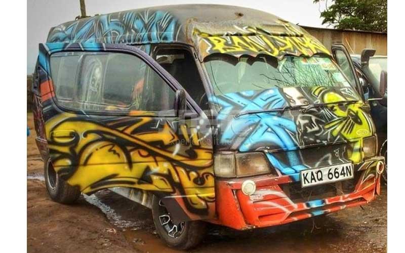 Nairobi's hottest matatu: Bandana is ahead in pomp and colour