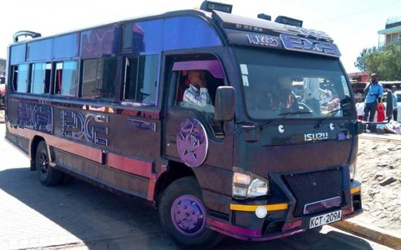 Nairobi's hottest matatu: Ngong's Rugged Edge changes colours depending on the temperature