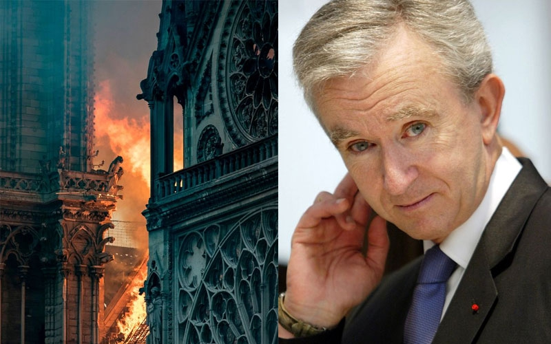 Europe's richest man  promises Sh22 billion to rebuild Notre Dame Cathedral gutted down by fire