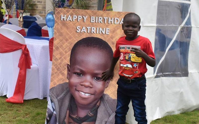 Sonko's adopted son, Satrine Osinya turns 7 in style