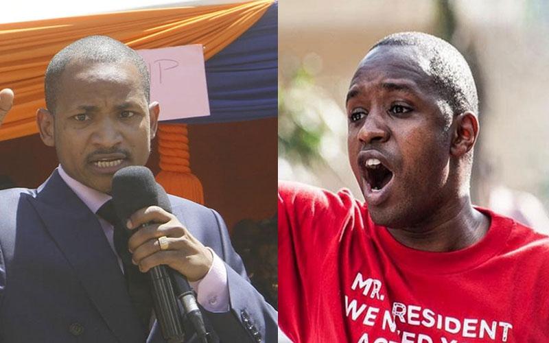 That's Raila: Babu Owino after Boniface Mwangi blocks VIP motorcade