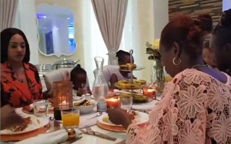 Video: Diamond introduces his Kenyan girlfriend Tanasha to his mum, family
