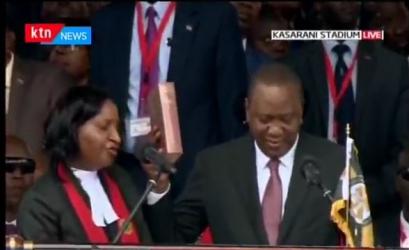 Uhuru Sworn in as President